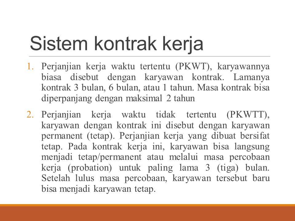 Sistem kontrak kerja