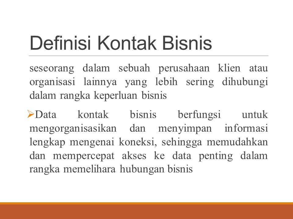 Definisi Kontak Bisnis