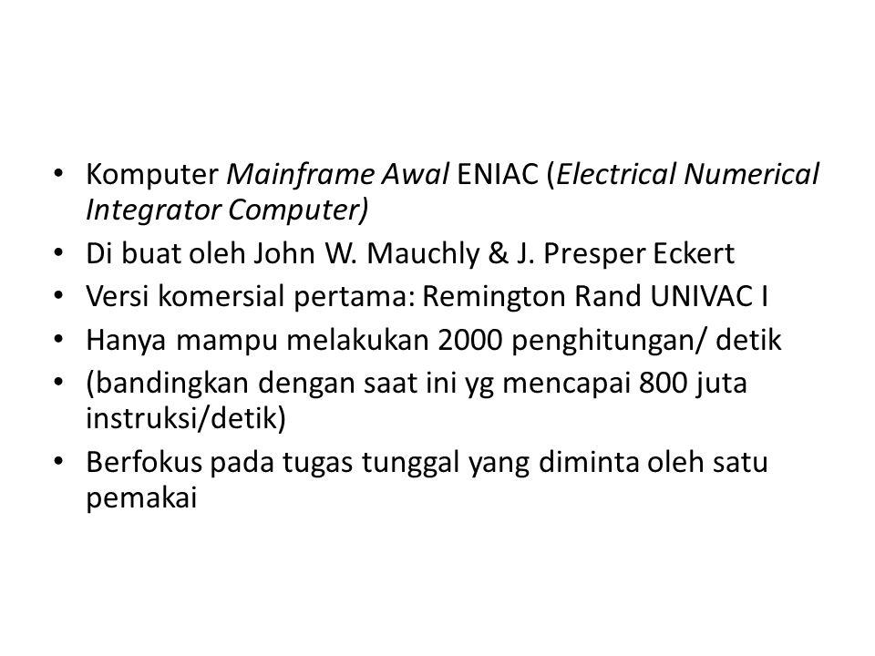 Komputer Mainframe Awal ENIAC (Electrical Numerical Integrator Computer)