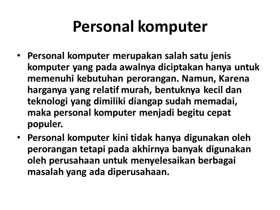 Personal komputer