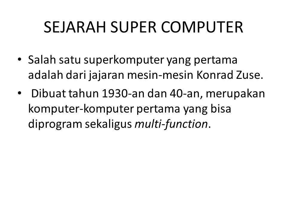 SEJARAH SUPER COMPUTER