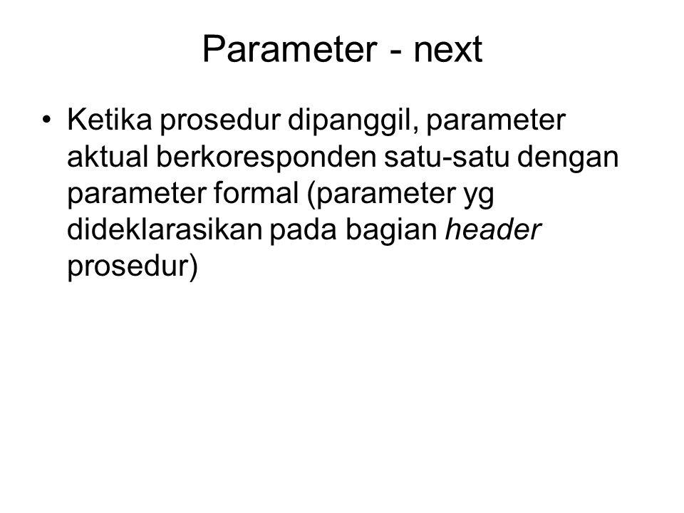 Parameter - next
