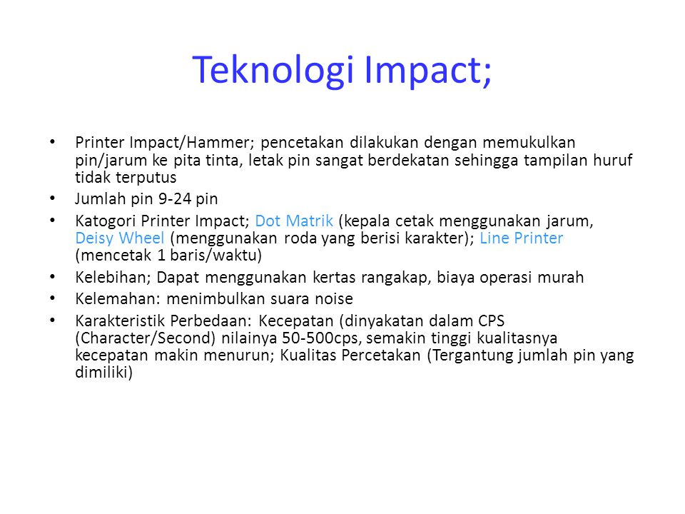 Teknologi Impact;