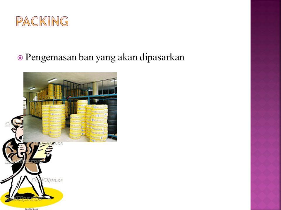 Packing Pengemasan ban yang akan dipasarkan