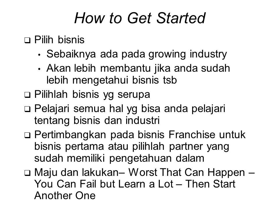 How to Get Started Pilih bisnis Sebaiknya ada pada growing industry