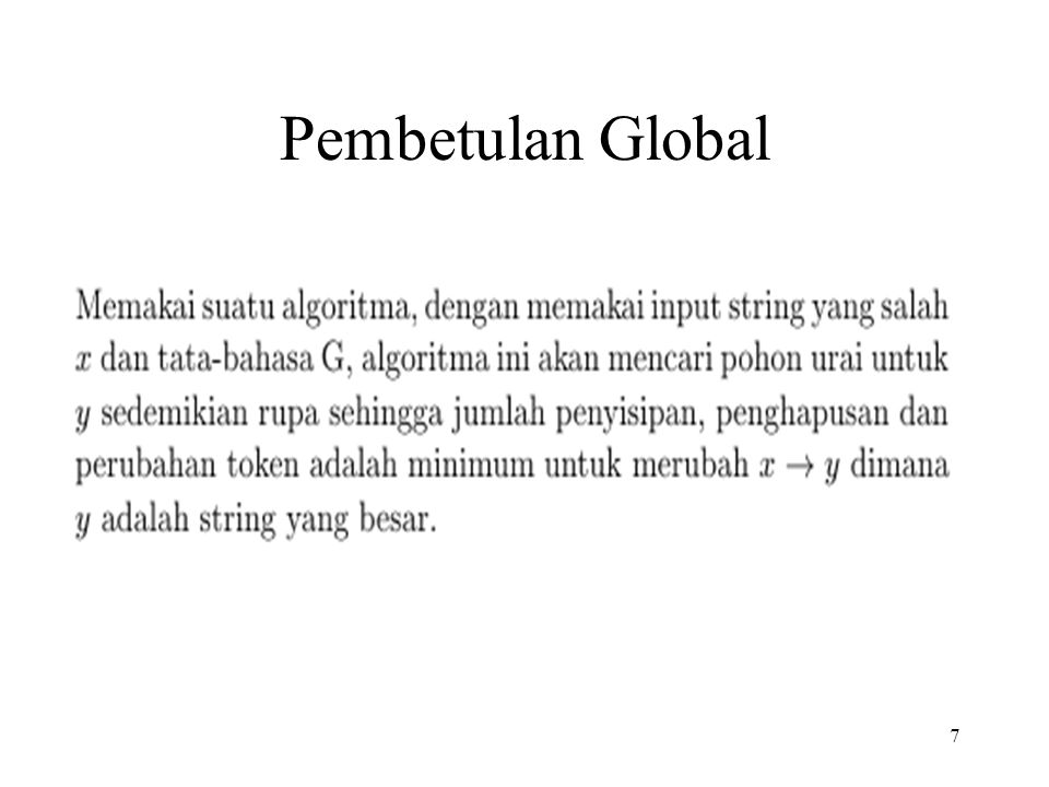 Pembetulan Global