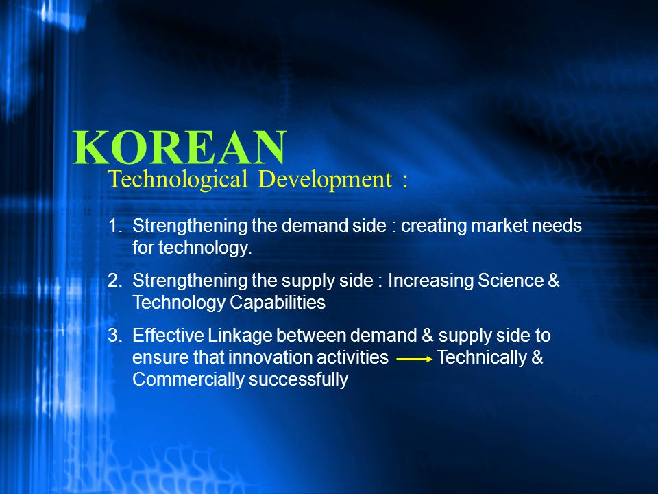 KOREAN Technological Development :
