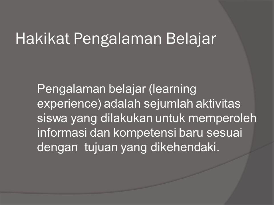 Hakikat Pengalaman Belajar