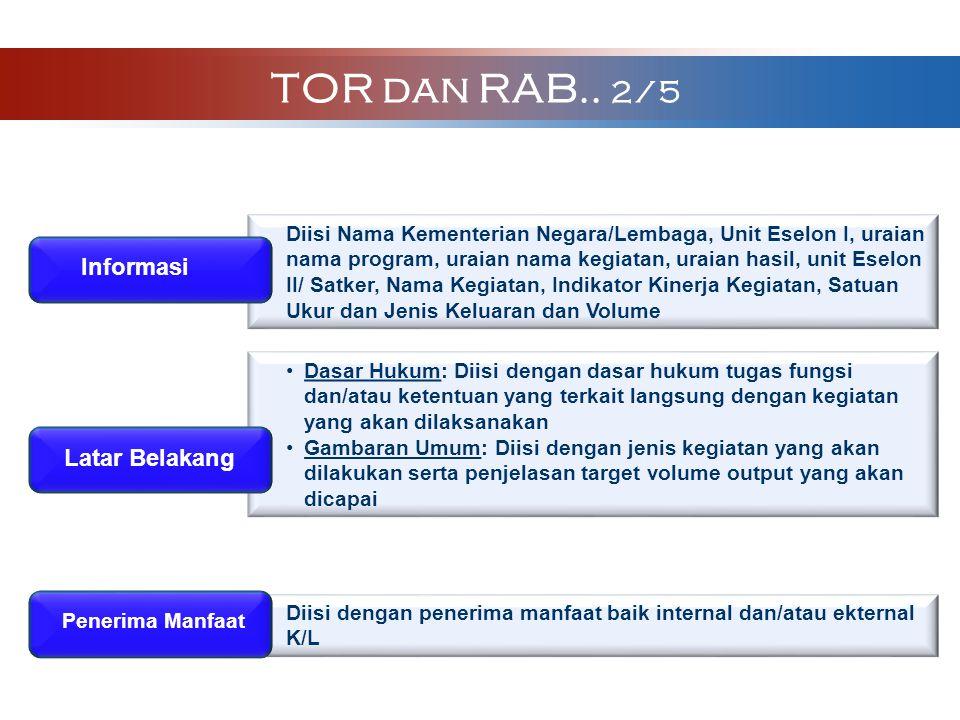 TOR dan RAB.. 2/5 Informasi Latar Belakang