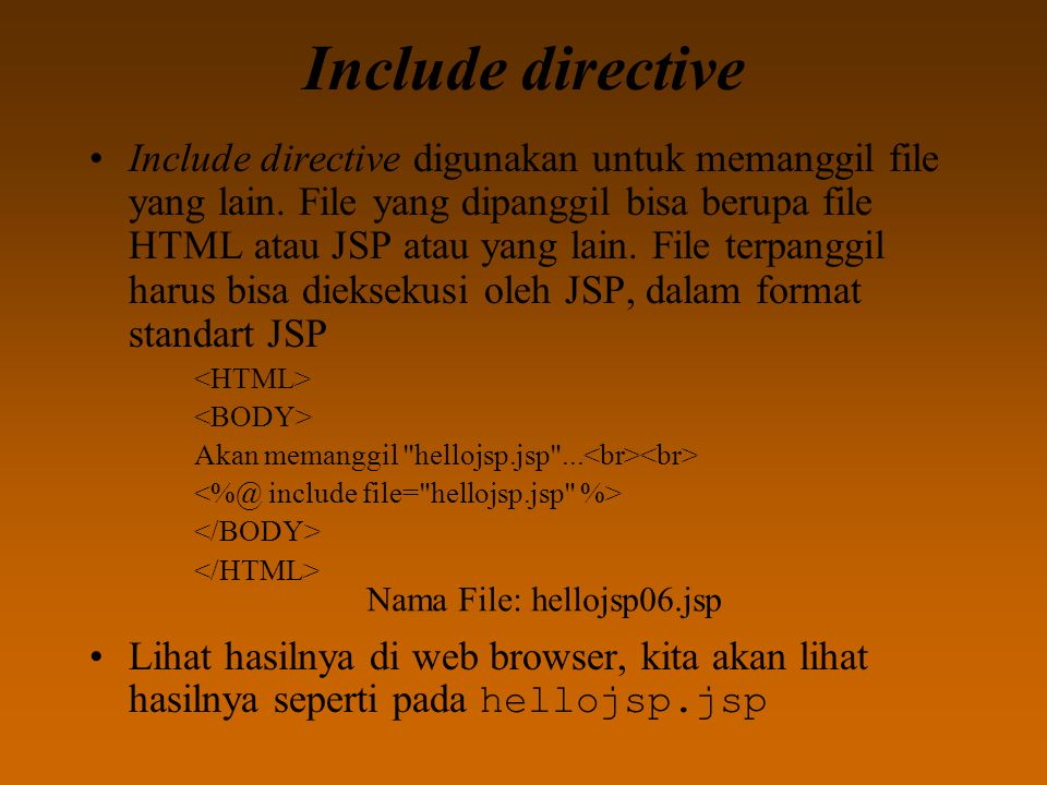 Include directive