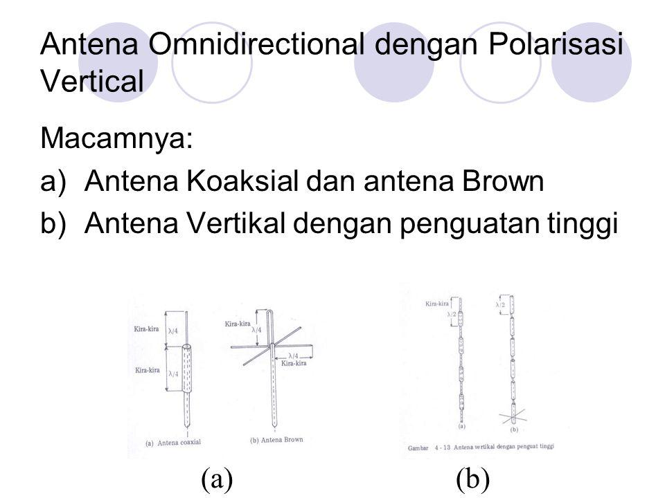 Antena Omnidirectional dengan Polarisasi Vertical