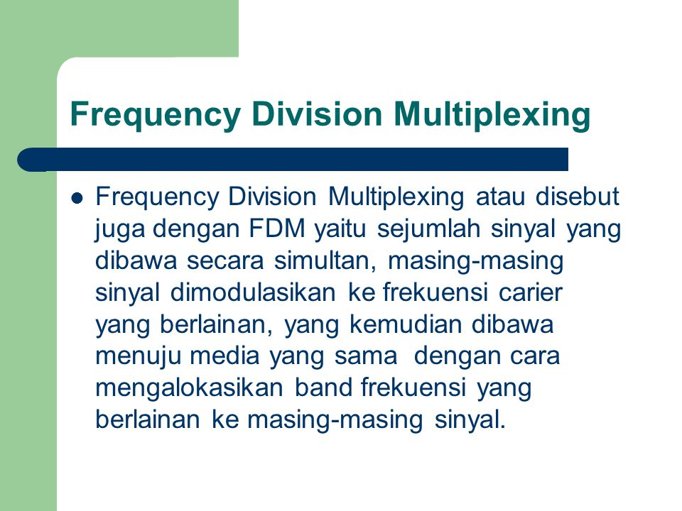 Frequency Division Multiplexing