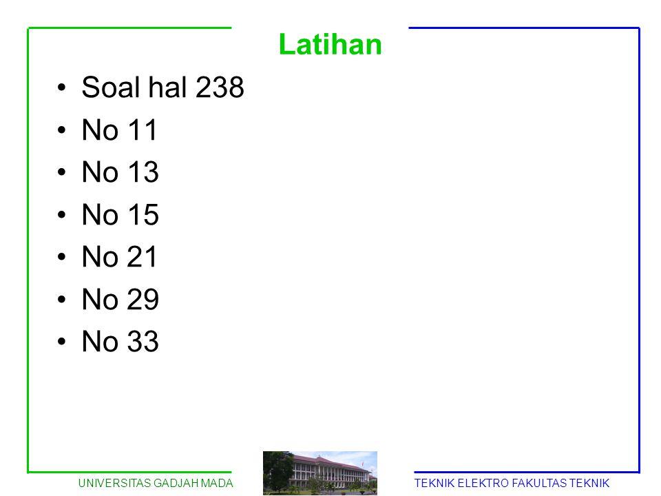 Latihan Soal hal 238 No 11 No 13 No 15 No 21 No 29 No 33