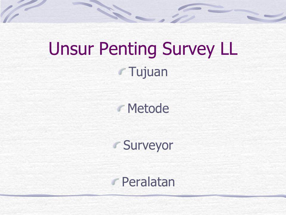 Unsur Penting Survey LL