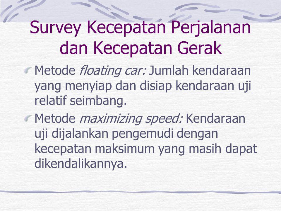 Survey Kecepatan Perjalanan dan Kecepatan Gerak