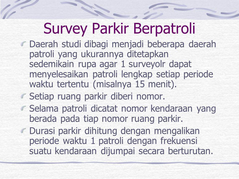 Survey Parkir Berpatroli