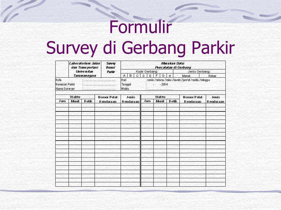 Formulir Survey di Gerbang Parkir