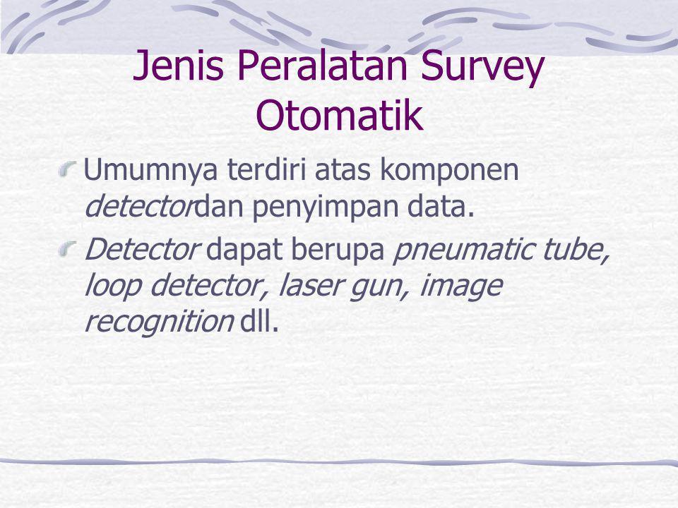 Jenis Peralatan Survey Otomatik