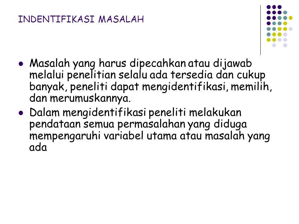 INDENTIFIKASI MASALAH
