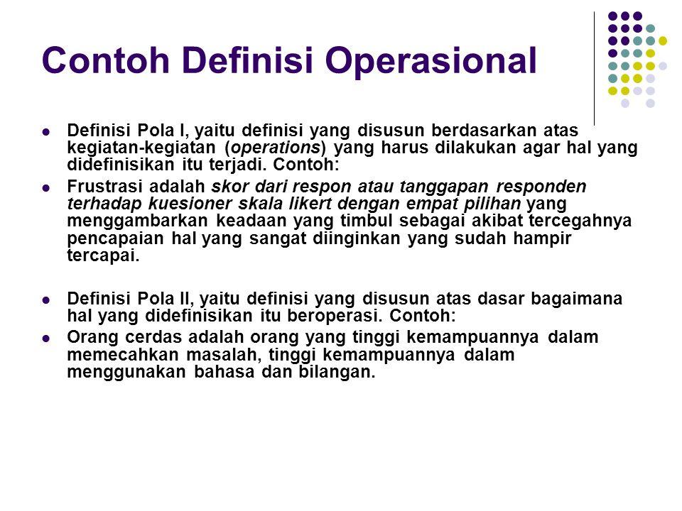Contoh Definisi Operasional