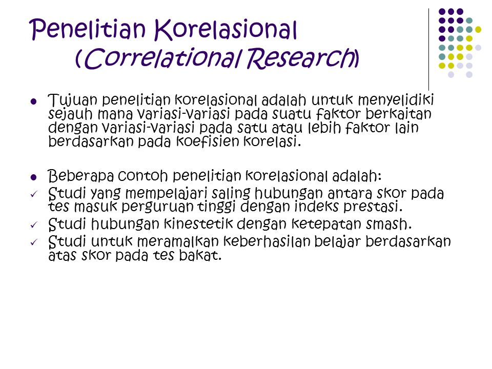 Penelitian Korelasional (Correlational Research)