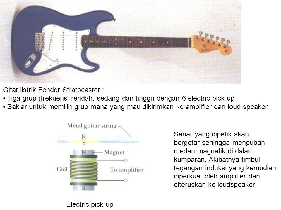 Gitar listrik Fender Stratocaster :