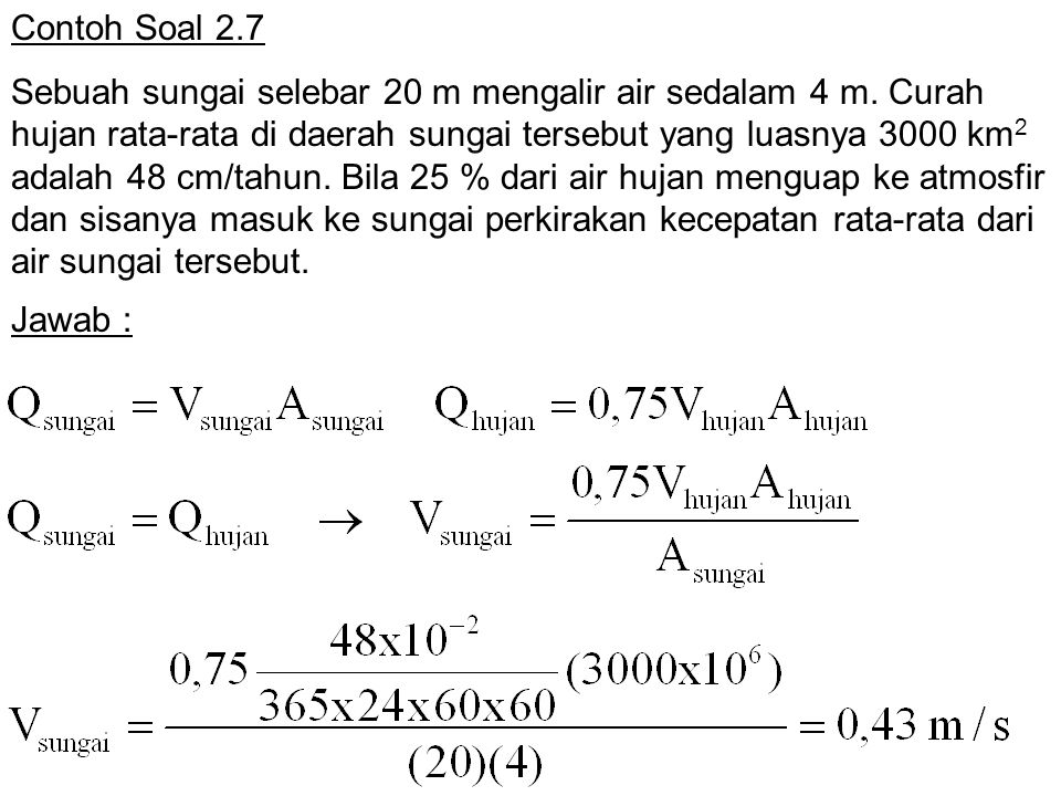 Contoh Soal 2.7