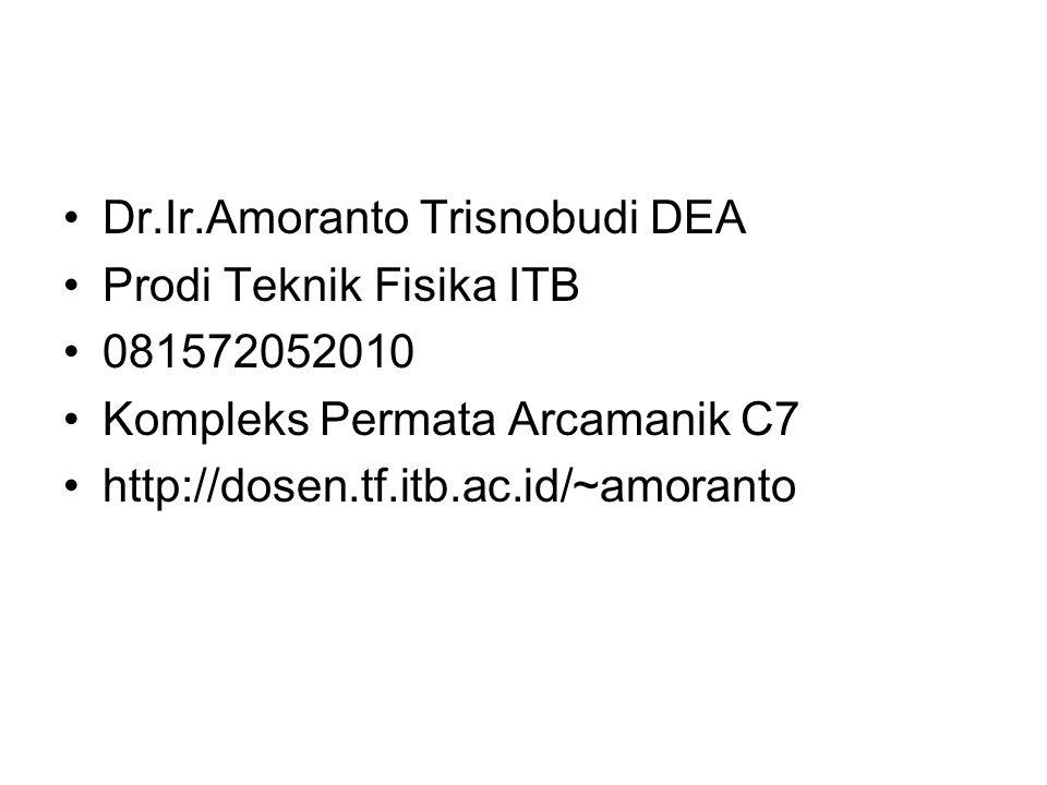 Dr.Ir.Amoranto Trisnobudi DEA