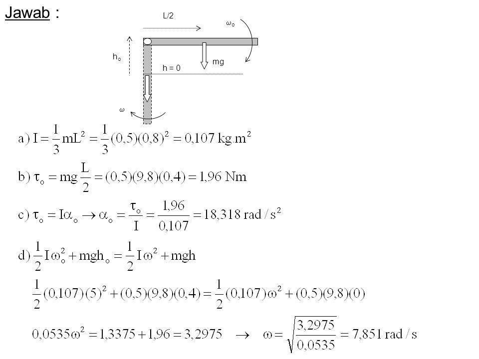 Jawab : o mg  ho h = 0 L/2