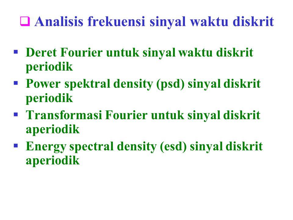 Analisis frekuensi sinyal waktu diskrit