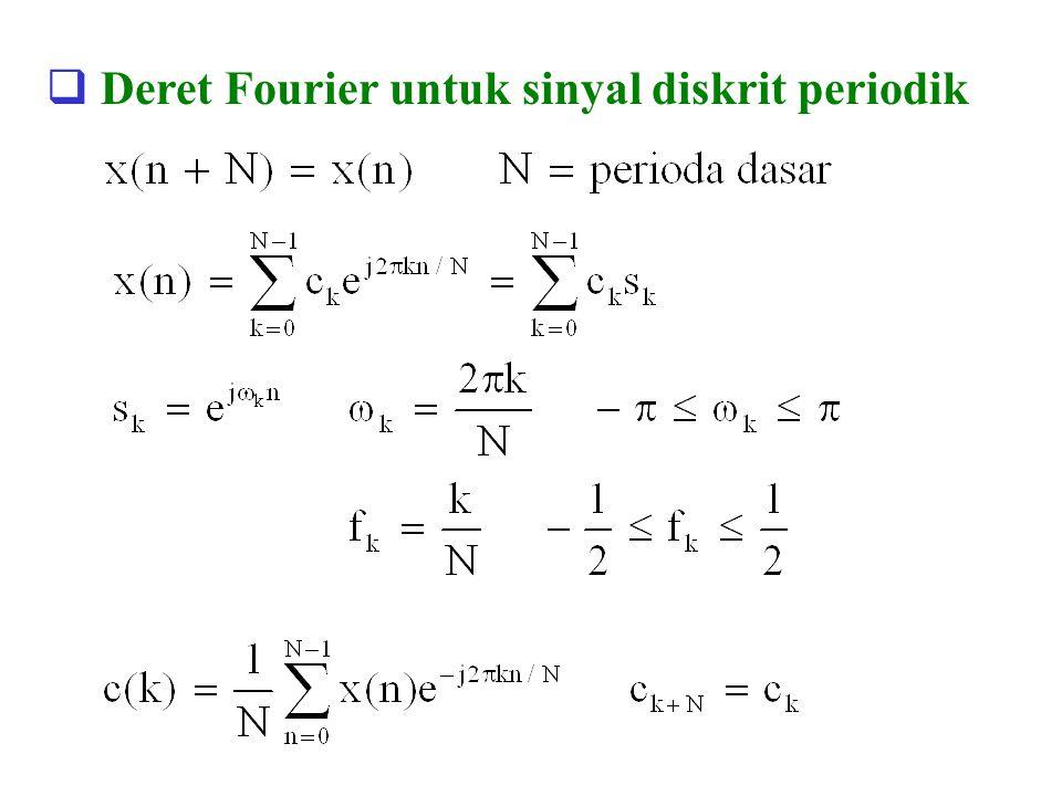 Deret Fourier untuk sinyal diskrit periodik