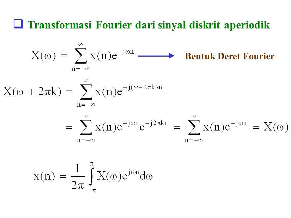 Transformasi Fourier dari sinyal diskrit aperiodik