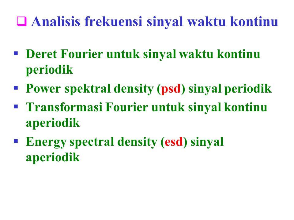 Analisis frekuensi sinyal waktu kontinu