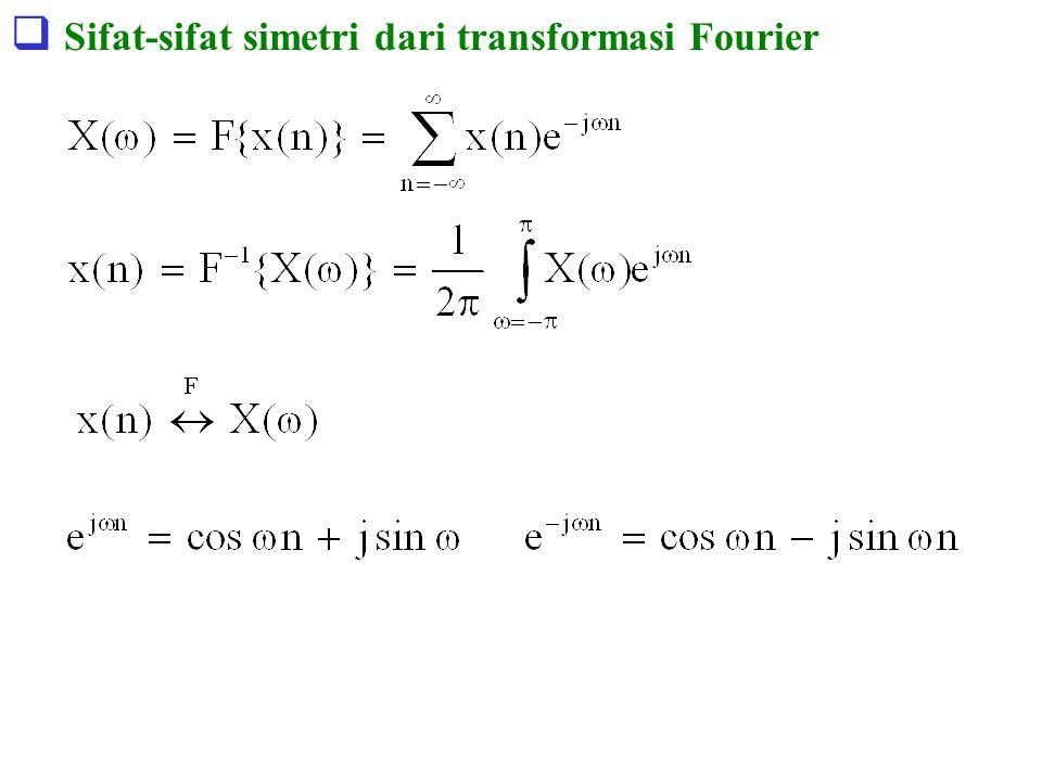 Sifat-sifat simetri dari transformasi Fourier
