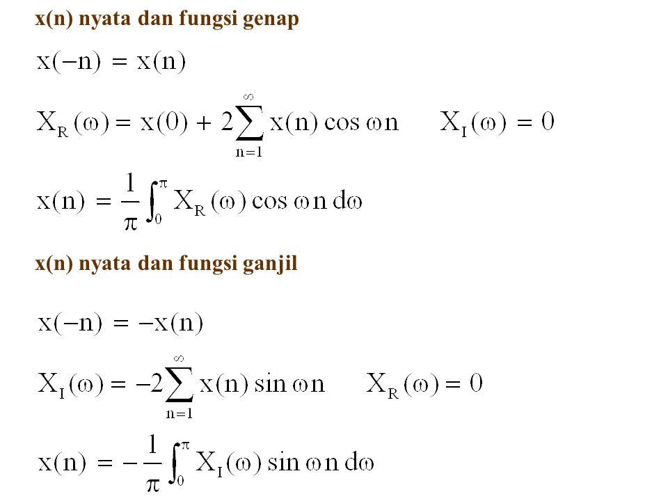 x(n) nyata dan fungsi genap