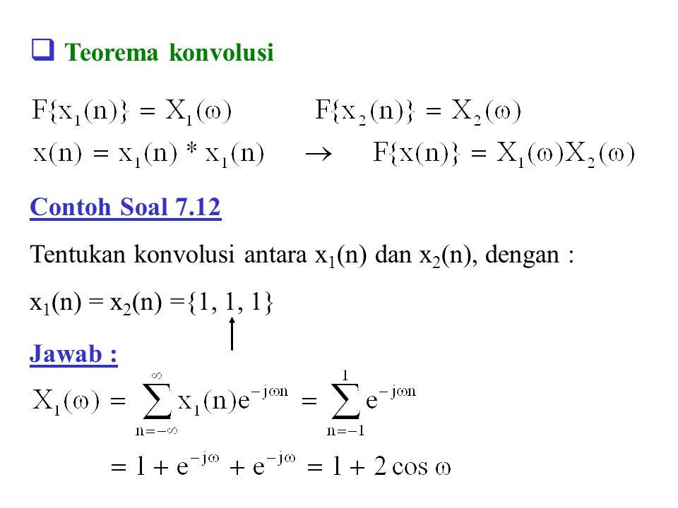 Teorema konvolusi Contoh Soal 7.12