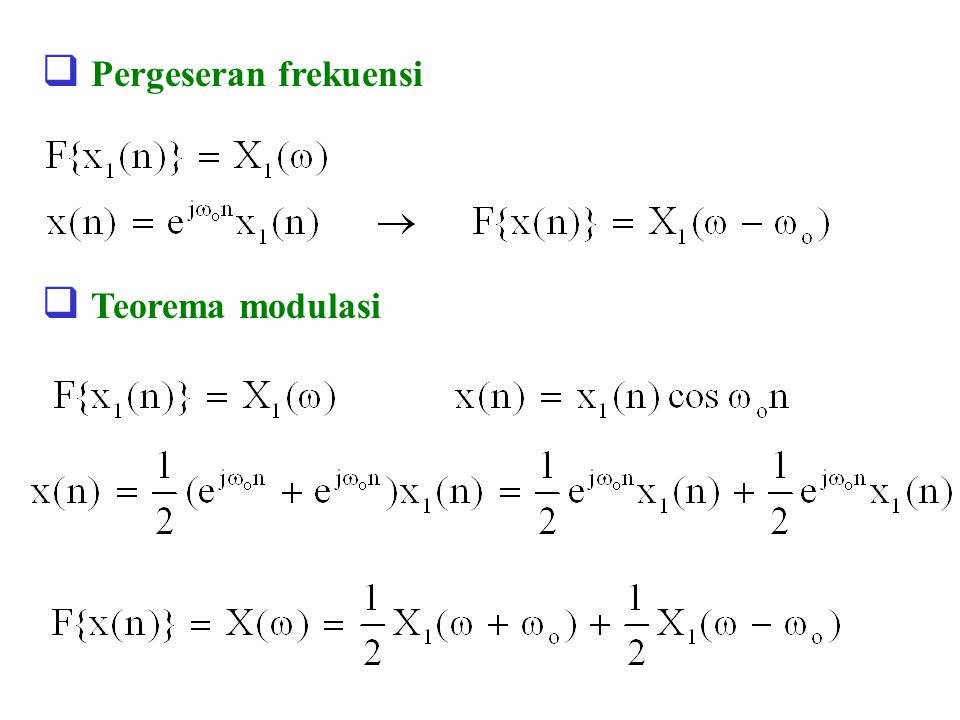 Pergeseran frekuensi Teorema modulasi