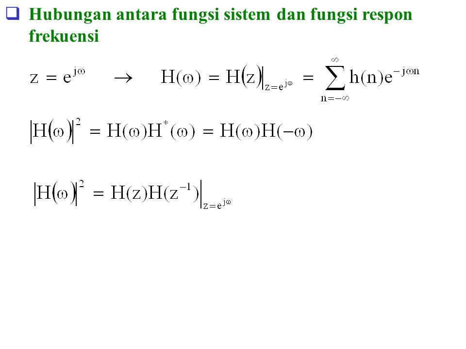 Hubungan antara fungsi sistem dan fungsi respon frekuensi