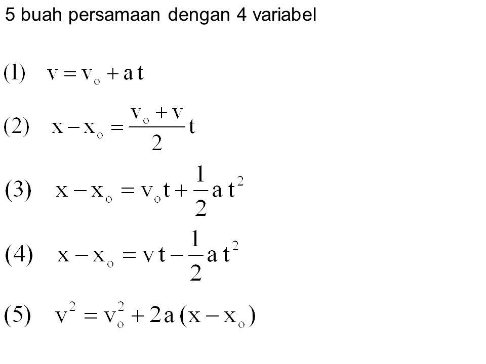 5 buah persamaan dengan 4 variabel