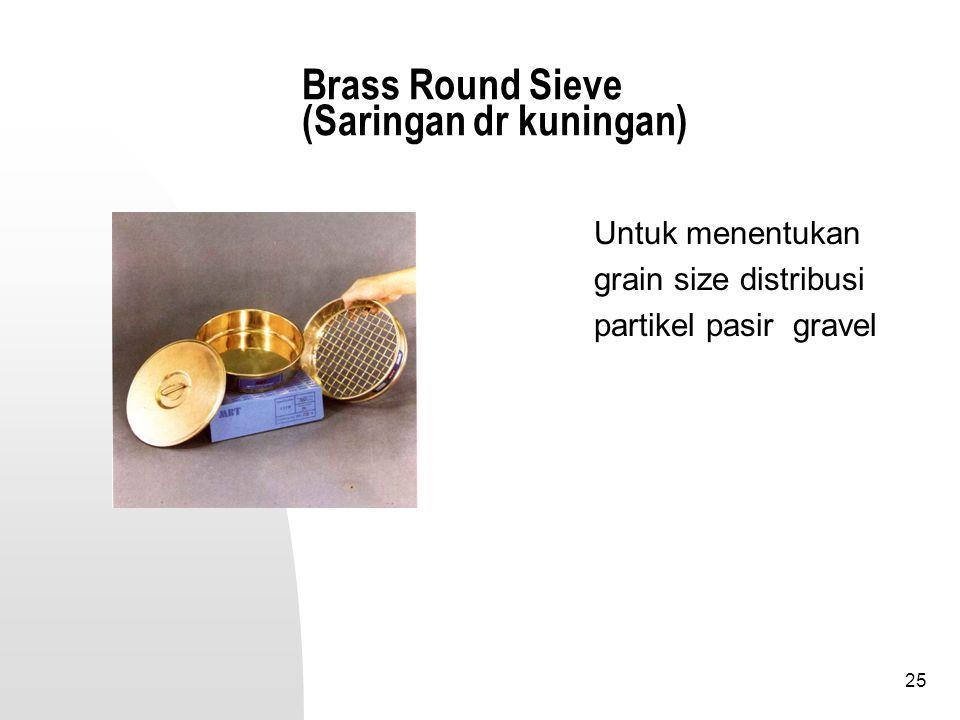 Brass Round Sieve (Saringan dr kuningan)