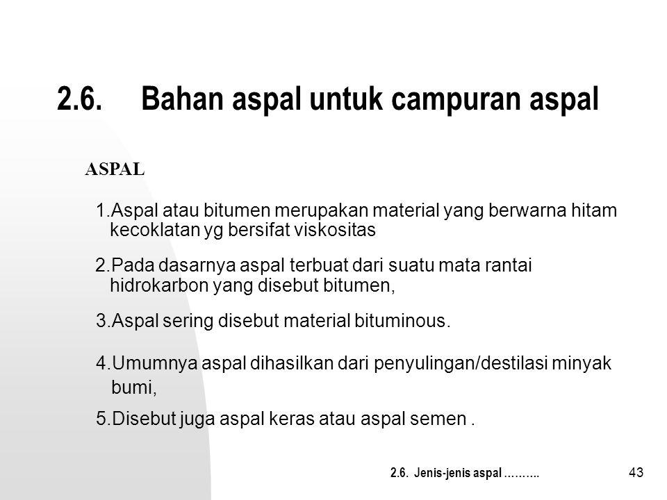 2.6. Bahan aspal untuk campuran aspal