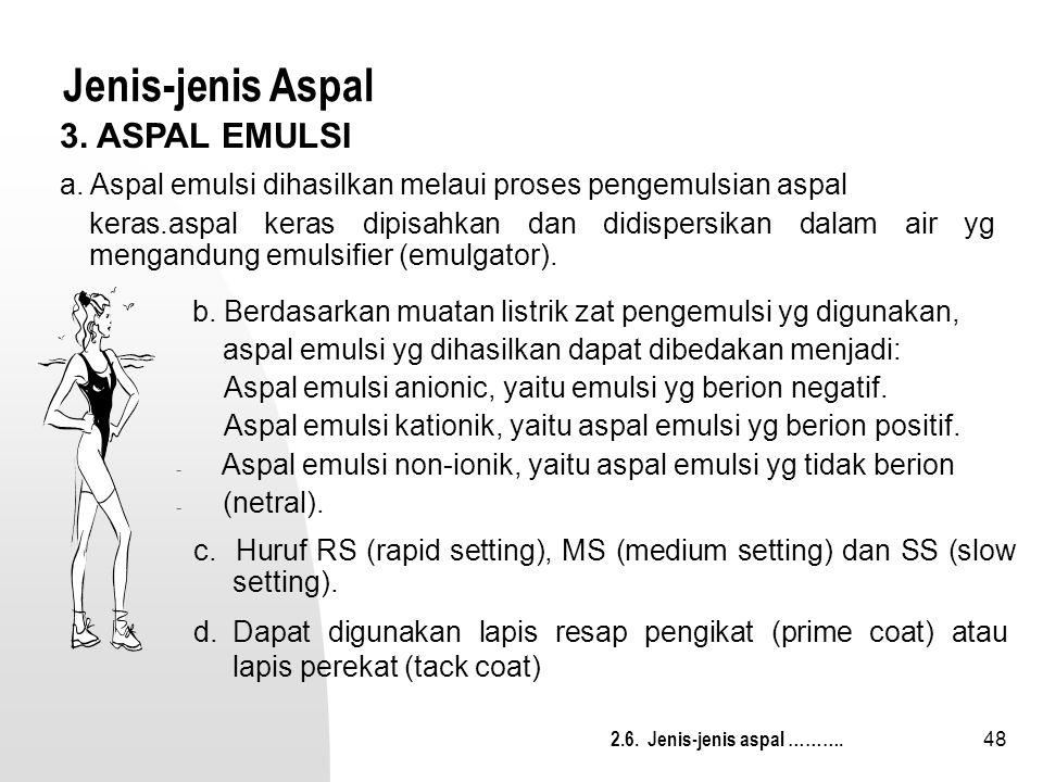 Jenis-jenis Aspal 3. ASPAL EMULSI
