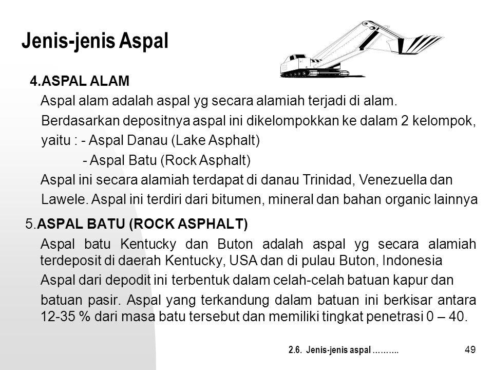Jenis-jenis Aspal 4.ASPAL ALAM
