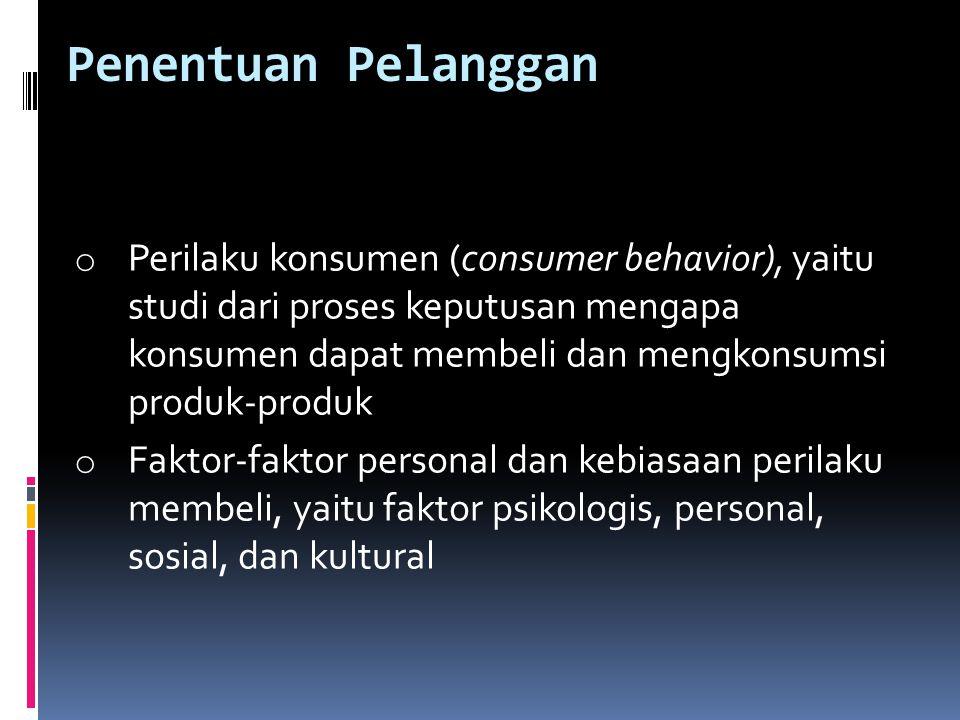 Penentuan Pelanggan