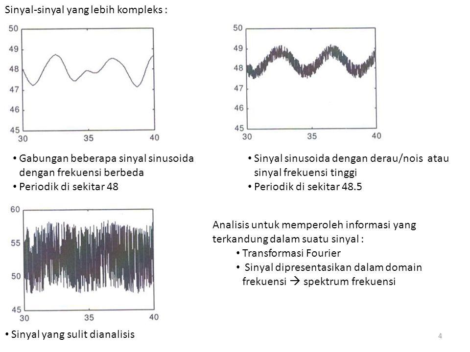 Sinyal-sinyal yang lebih kompleks :