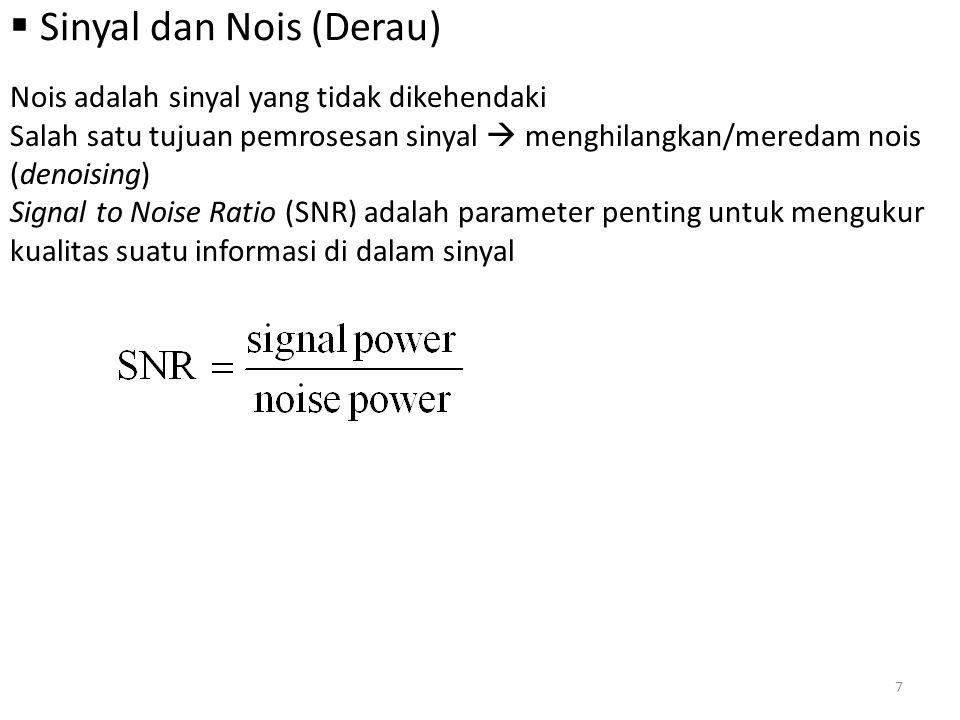 Sinyal dan Nois (Derau)