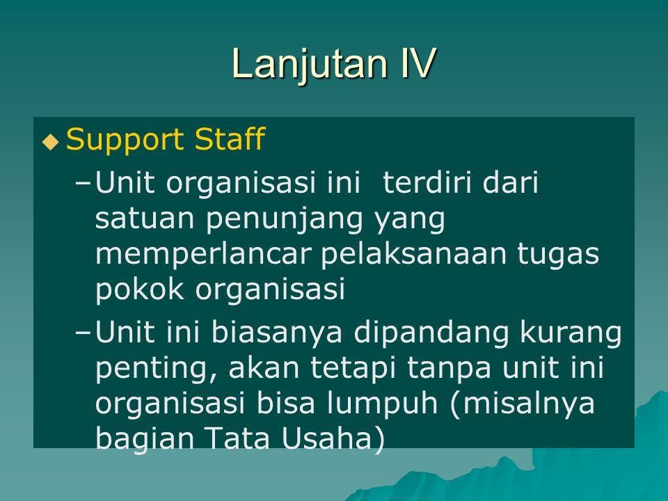 Lanjutan IV Support Staff