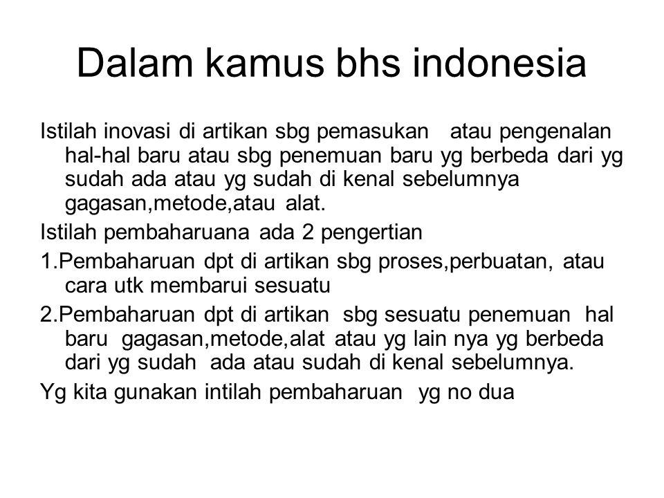Dalam kamus bhs indonesia