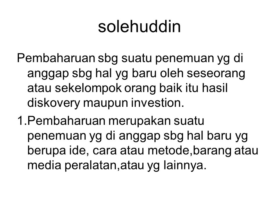 solehuddin