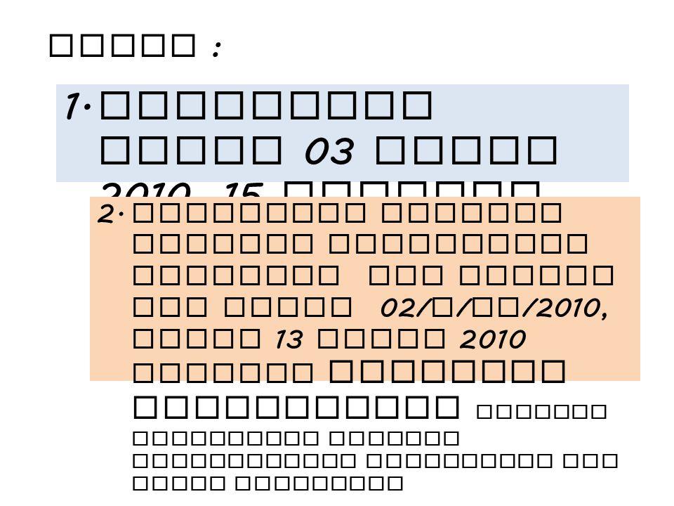 Permenpan Nomor 03 tahun 2010, 15 Januari